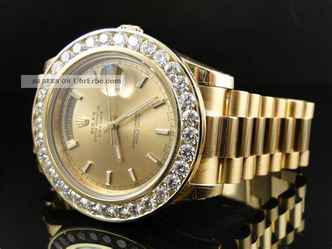 rolex gold diamanten herren diamant armbanduhr f 252 r herren rolex president ii 8ct