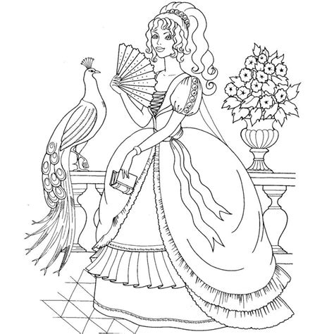 image result for realistic princess coloring pages for