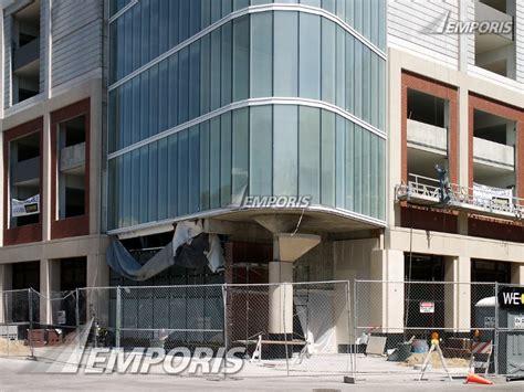 Corner Of The Parking Garage Base, Sherman Plaza, Evanston