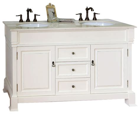 60 in double sink vanity wood cream white farmhouse