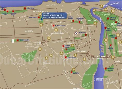 Dubaicityguidecom  Shopping Area Map  10 Reference