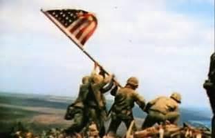 Iwo Jima Flag Raising Color