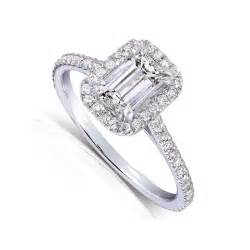 1 carat engagement rings 1 carat emerald cut halo engagement ring for withfeelings