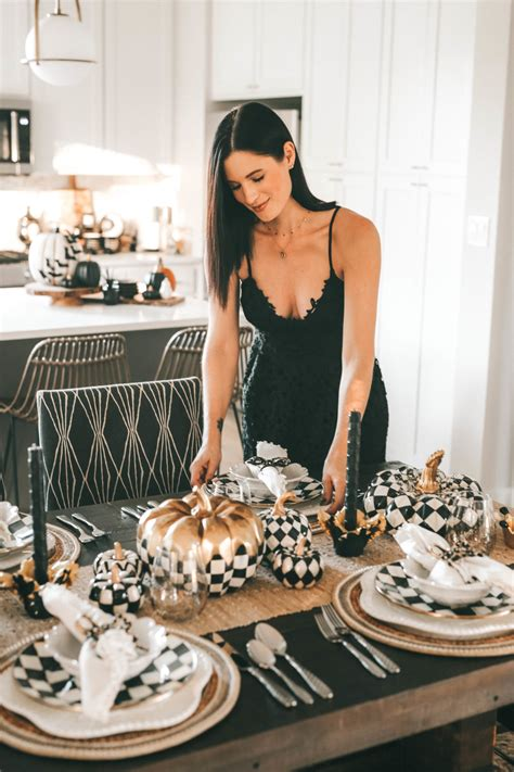 setting mackenzie childs fall decor dining table dressed