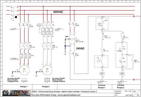 schema chambre froide negative seb03 schéma électrique de base départ moteur triphasé