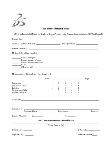 employee referral form   templates   word