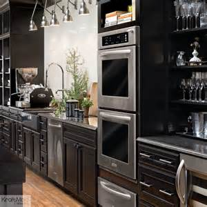 kitchen window shelf ideas kraftmaid maple kitchen cabinetry in onyx contemporary