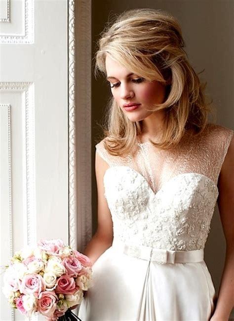 bridal hairstyles mid length hair mid length bridal hair a lavish affair