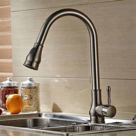 Wholesale Faucet by Brushed Nickel Single Handle Pull Out Kitchen Sink Faucet