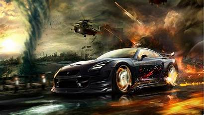 Nissan Helicopters R35 Explosions Watercourse Skyline Vehicles