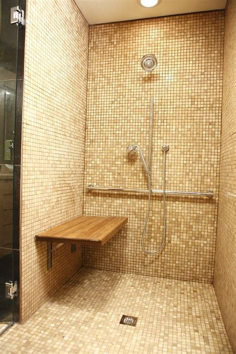 amazoncom teak wall mount fold  shower benchseat