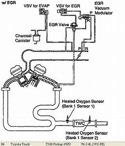Egr And Egr Filter Vacuum Routing Hose Locations  1996