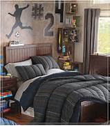 Sports Themed Bedroom Accessories Love The Orange And Green As The Accent Colors Throughout The Room