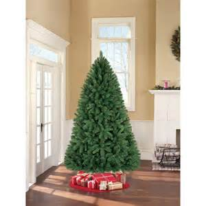 Skinny Pre Lit Christmas Tree by Holiday Time Unlit 7 5 Donner Fir Artificial Christmas