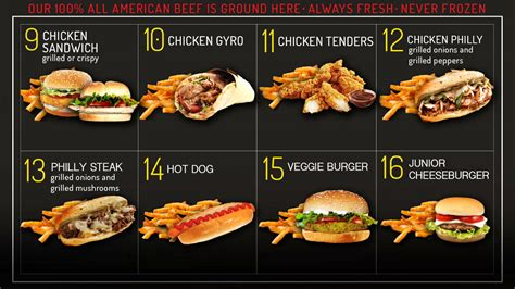 Burgers and Fries Menu in Waterbury | G's Burgers