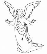 Angel Coloring Pages Printable Angels Christmas Adults Precious Moments sketch template