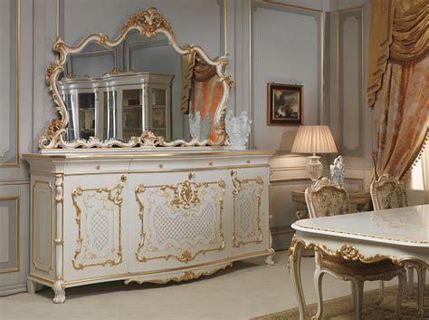 credenza tavolo  sedie venezia  stile luigi xv
