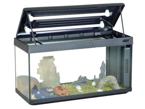aquarium mondolife 100 100x40 aquarium en verre muni d un couvercle plastique d un syst 232 me d