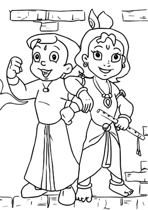 Bala Krishna Coloring Pages Learny Kids