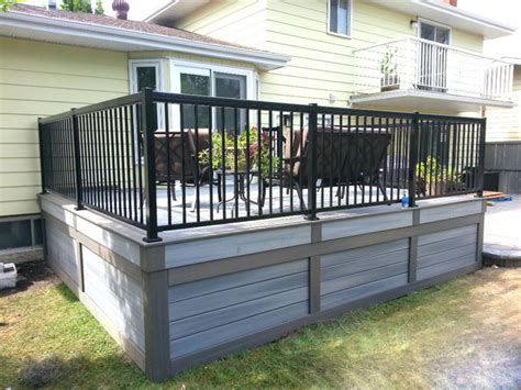 inexpensive deck skirting ideas fiberon low maintenance composite deck edmonton modern