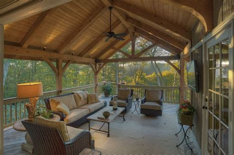 covered wood deck framing post details google search timber frame porch porch interior