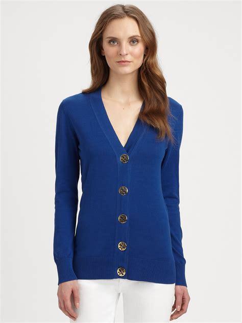 burch sweater burch cotton cardigan sweater in blue