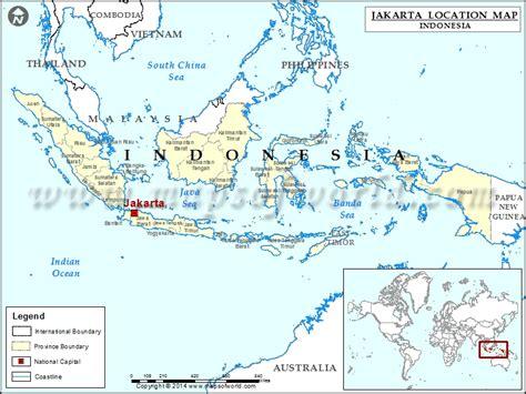 jakarta location  jakarta  indonesia map