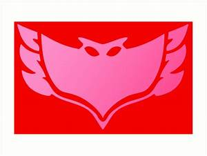 """Pj masks Owlette symbol"" Art Prints by ideasfinder"