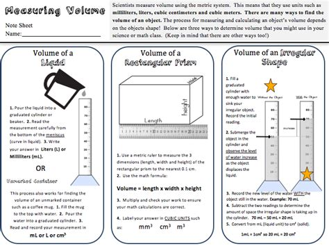 kate s science classroom cafe volume practice freebie