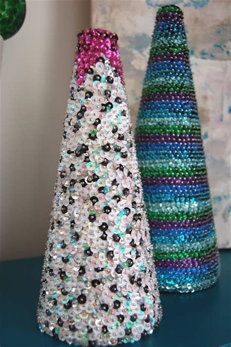 images  christmas craft trees sequins