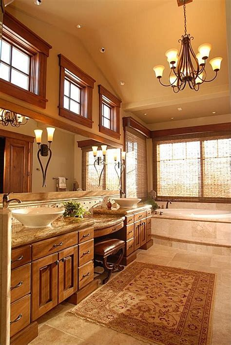 Rustic Master Bathroom  Find more amazing designs on