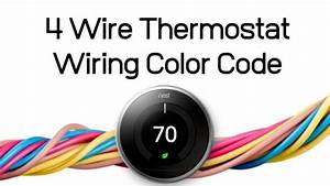 4 Wire Thermostat Wiring Color Code  U2014 Onehoursmarthome Com