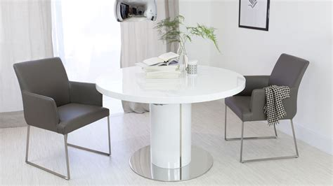 white round extending dining table round white gloss extending dining table pedestal base
