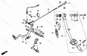 Honda Motorcycle 1988 Oem Parts Diagram For Brake Pedal
