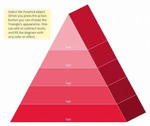 Pyramid Diagram | 3D Triangle diagram - Template | 3D ...