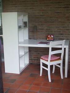 Bureau Avec étagère : bureau avec tag re kallax ikea ebay id es coin bureau pinterest bureaux ebay et ikea ~ Preciouscoupons.com Idées de Décoration