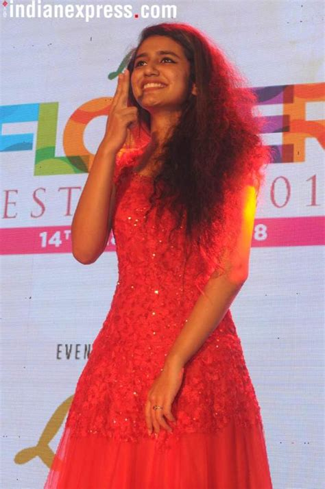 priya prakash varrier first film photos priya prakash varrier wows kochi the indian express