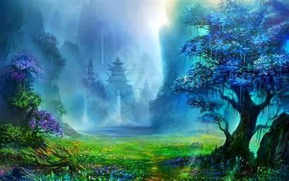 Fantasy Landscape Nature Digital Wallpapers Water Artwork
