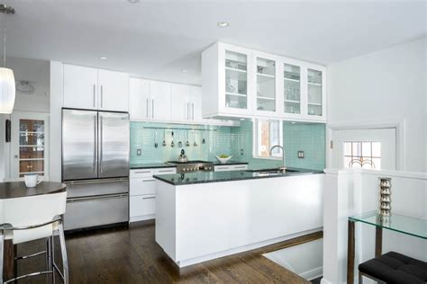 best 20 small modern kitchen best small kitchens with modern green subway tile