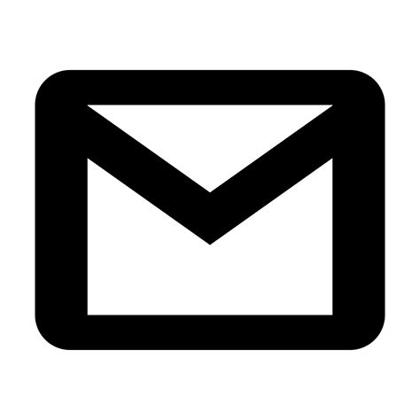 white mail icon vector png gmail icon free at icons8