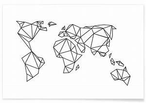 Carte Du Monde Design : planisph re origami affiches et papier pinterest origami dessin et tatouages ~ Teatrodelosmanantiales.com Idées de Décoration