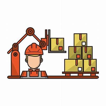Manufacturing Equipment Clip Vector Illustrations Logistics Cartoons