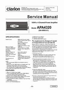 Clarion Apa4320 Service Manual Download  Schematics