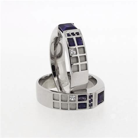 a fantastic tardis wedding ring for doctor who fans global geek news