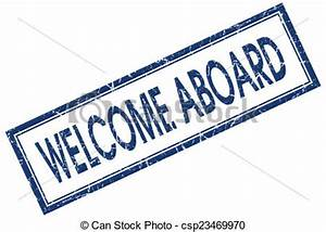 Stock Illustrations of welcome aboard blue square stamp ...