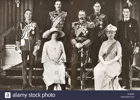 la famille royale du roi george  dangleterre banque