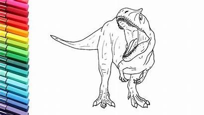 Dinosaur Dinosaurs Draw Jurassic Drawing Velociraptor Coloring