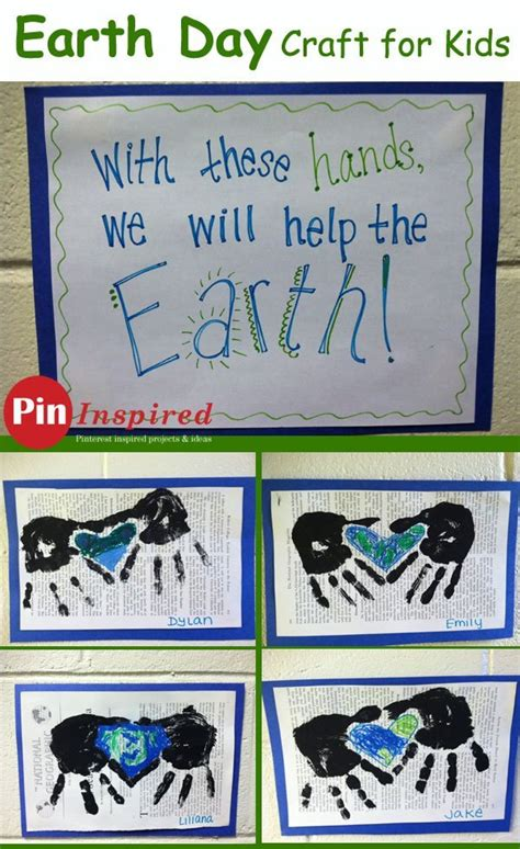 earth day helping hands craft lesson plans
