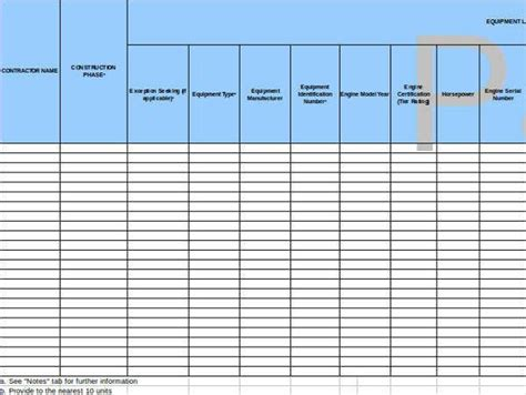 company inventory list templates   word