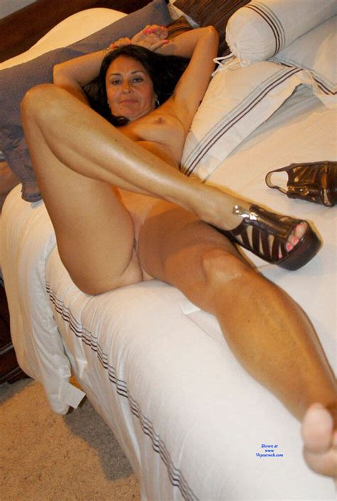 Amazing Brunette Milf Posing On Bed Preview February 2020 Voyeur Web